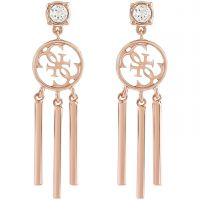 Ladies Guess Rose Gold Plated Miss Divine Earrings UBE82066