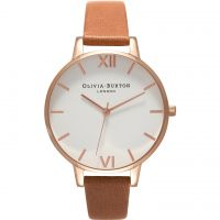 Damen Olivia Burton Big Weiß Dial Uhren