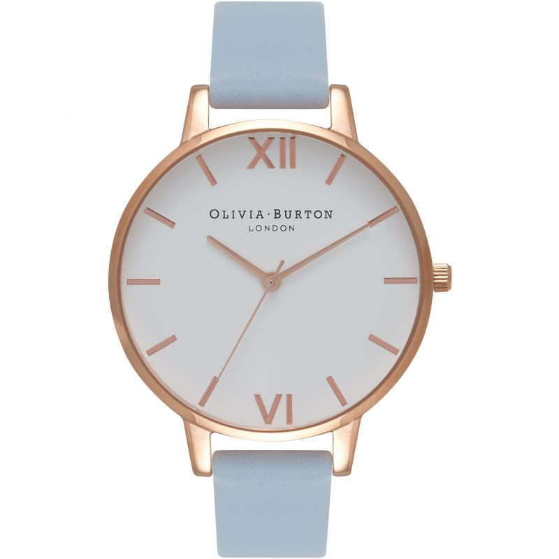 femme Olivia Burton Big White Dial Watch OB16BDW18