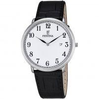 Herren Festina Classic Leather Watch F6839/1