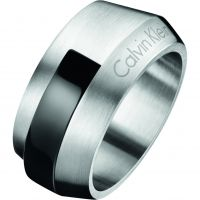 Mens Calvin Klein Stainless Steel Size V/W Bump Ring