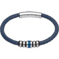 Biżuteria męska Unique & Co & Leather Bracelet B283BLUE/21CM