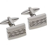 Mens Unique & Co Stainless Steel Cufflinks QC-195