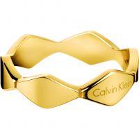 Damen Calvin Klein PVD Gold überzogen Größe O Ring