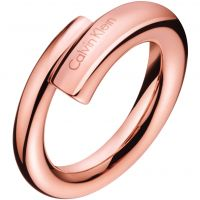Ladies Calvin Klein PVD rose plating Size N Scent Ring KJ5GPR100107