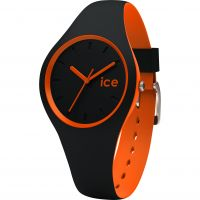 Damen Ice-Watch Duo Schwarz-Orange Uhr