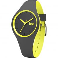 Damen Ice-Watch Duo Anthracite-Gelb Uhren