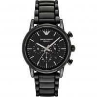 Herren Emporio Armani Keramik Chronograf Uhr