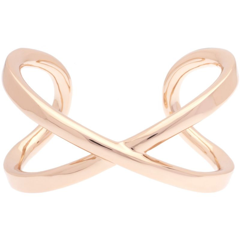 Ladies Karen Millen Rose Gold Plated Criss-Cross Cuff Slim SM KMJ940-24-03SM