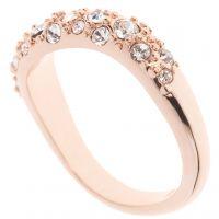 femme Karen Millen Jewellery Pave Crystal Wave Ring SM Watch KMJ950-24-02SM