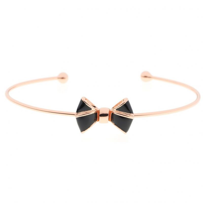 Ladies Ted Baker Rose Gold Plated Edene Enamel Baby Bow Ultrafine Cuff TBJ1111-24-05