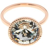 Ladies Ted Baker Rose Gold Plated Rada Rivoli Crystal Ring SM
