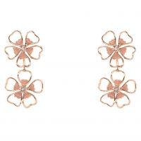 Damen Ted Baker vergoldet Lorel Emaille Blume Double Ohrring