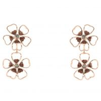 femme Ted Baker Jewellery Lorel Enamel Flower Double Earring Watch TBJ1244-24-23