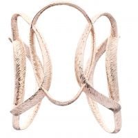Ladies Ted Baker Rose Gold Plated Tamii Textured Hoop Cuff