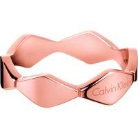 Damen Calvin Klein PVD Rosa plating Größe O Schlange Ring