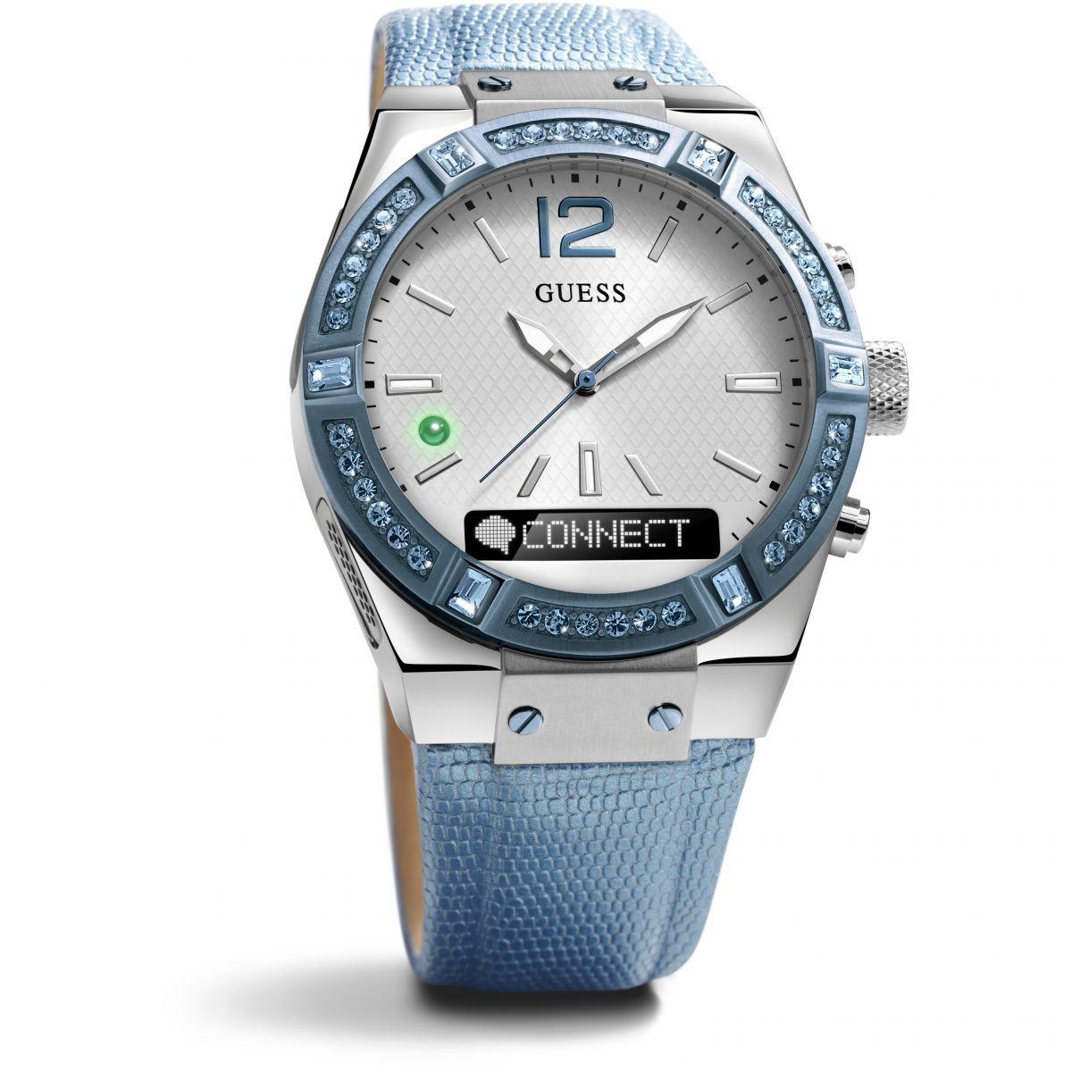 damen guess connect bluetooth hybrid smartwatch uhren c0002m5. Black Bedroom Furniture Sets. Home Design Ideas
