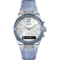 femme Guess Connect Bluetooth Hybrid Smartwatch Watch C0002M5