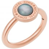 Damen Michael Kors Rose vergoldet Größe P Logo Ring