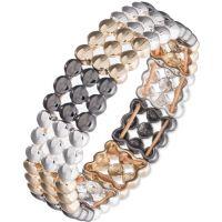 Ladies Nine West Two-tone steel/gold plate Swing Along Bracelet 60441357-Z01