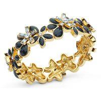 Ladies Anne Klein Gold Plated Holiday Scene Bracelet 60439900-887