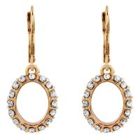 Ladies Anne Klein Rose Gold Plated Crystal Glitz Earrings