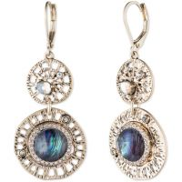 Damen Lonna And Lilly Silber Plated modisch Filigree Ohrringe