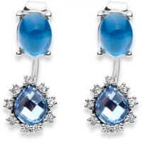 Damen Lonna And Lilly Silber Plated Perle Brilliance Ohrringe