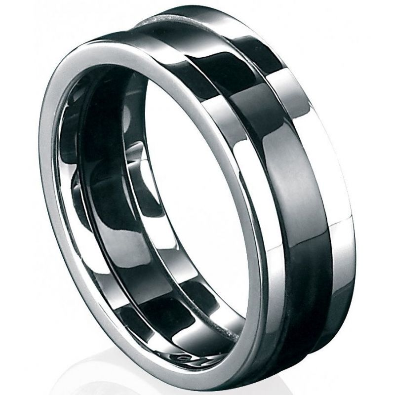 Mens Fred Bennett Stainless Steel Ring Size R.5 R2727-60