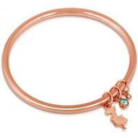 Ladies Disney Couture Rose Gold Plated Alice in Wonderland Crystal Bangle DRB032