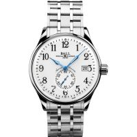 Herren Ball Trainmaster Standard Time Chronometer Watch NM3888D-S1CJ-WH