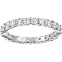 Ladies Swarovski Rhodium Plated Size N Vittore Ring