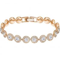 Ladies Swarovski Rose Gold Plated Angelic Bracelet