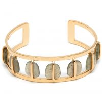 Ladies Lola Rose Gold Plated Labradorite Bassa Bangle 580441
