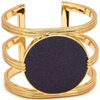 Ladies Lola Rose Gold Plated Blue Sandstone Garbo Statement Cuff 583336