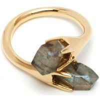 Ladies Lola Rose Gold Plated Labradorite Perla Ring 553599