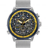 Herren Citizen Navihawk A-T Blau Angels Wecker Chronograf funkgesteuert Eco-Drive Uhr