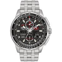 Herren Citizen Skyhawk A-T Alarm Chronograph Radio Controlled Eco-Drive Watch JY8050-51E