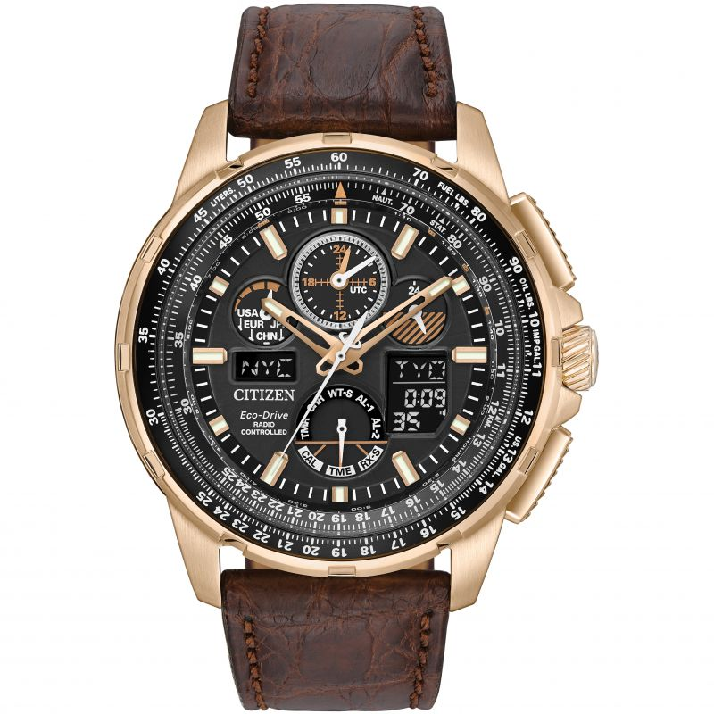 Mens Citizen Skyhawk A-T Limited Edition Alarm Chronograph Radio Controlled Watch JY8056-04E