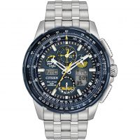 Mens Citizen Skyhawk A-T Blue Angels Alarm Chronograph Radio Controlled Eco-Drive Watch