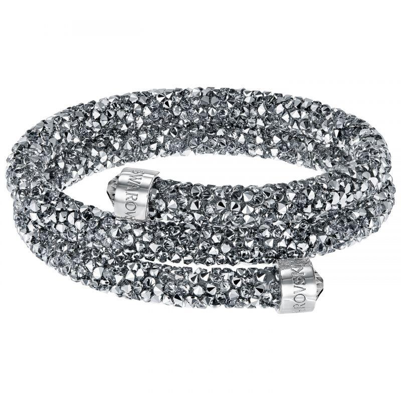 Ladies Swarovski Rhodium Plated Crystaldust Bangle 5237762