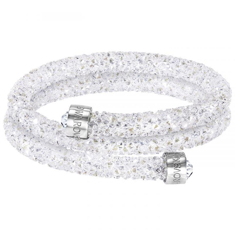 Ladies Swarovski Rhodium Plated Crystaldust Bangle 5237754
