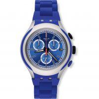 Unisex Swatch Blau Attack Chronograf Uhr