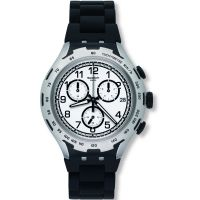 Unisex Swatch Black Attack Chronograph Watch