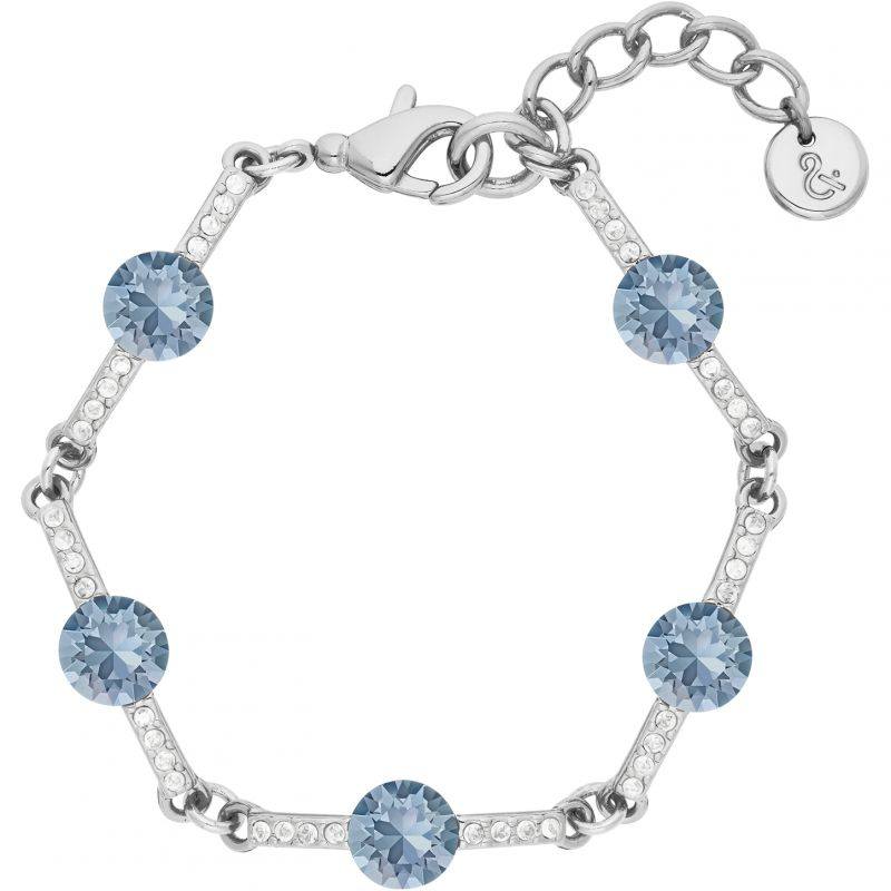 Ladies Lola & Grace Rhodium Plated Mini Cocktail Bracelet 5251953