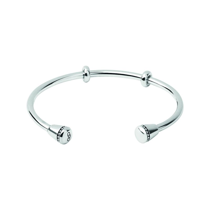 Ladies Links Of London Sterling Silver Amulet Charm Cuff Bangle Size L 5010.3440