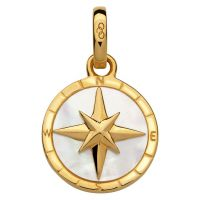 Ladies Links Of London Sterling Silver Amulet Keepsakes Mother of Pearl Compass 5030.2542