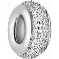 Ladies Links Of London Sterling Silver Pave Rondel White Diamond Pave Bead