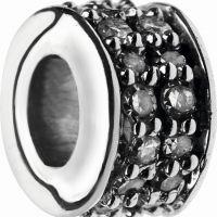 Ladies Links Of London Sterling Silver Pave Rondel Diamond XS Pave Mini Bead 5030.2360