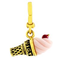 Juicy Couture Dames Little Luxuries Ice Cream Cone Charm Verguld goud WJW62450-712